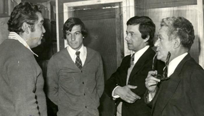 De izquierda a derecha: Luis Santibáñez, Julio Salviat, Edgardo Marín y Antonino Vera